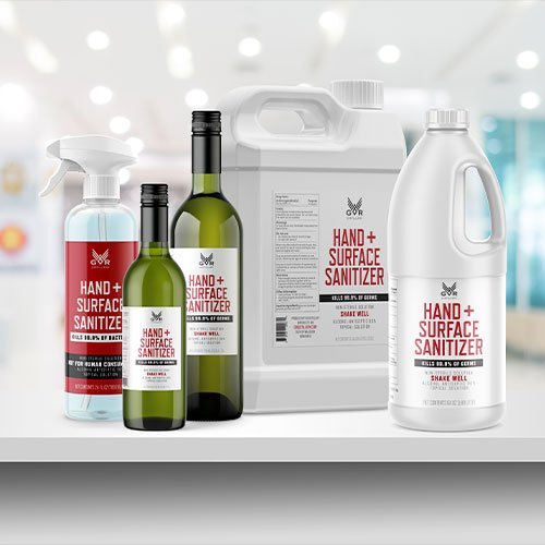 Hand and Surface Sanitizer Packaging Design