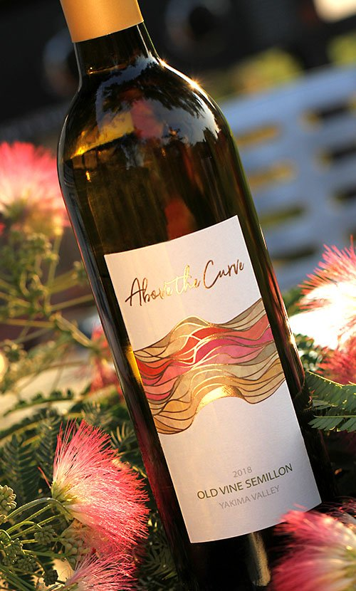 above the curve wine label