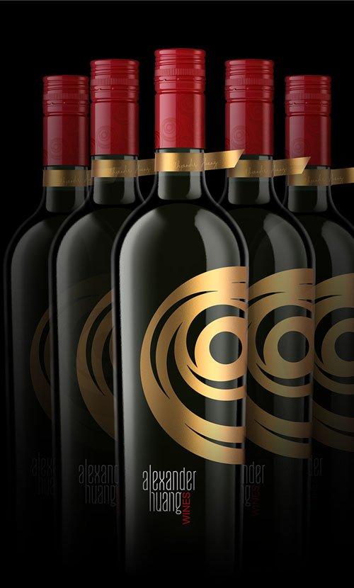 Alexander Huang Wine Label Design