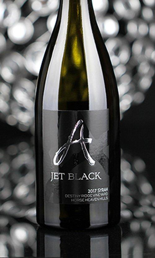 Alexandria Nicole Jet Black Wine Bottle
