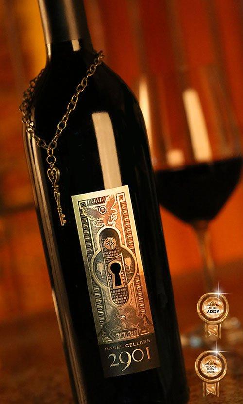 Basel Cellars 2901 Wine Label Design