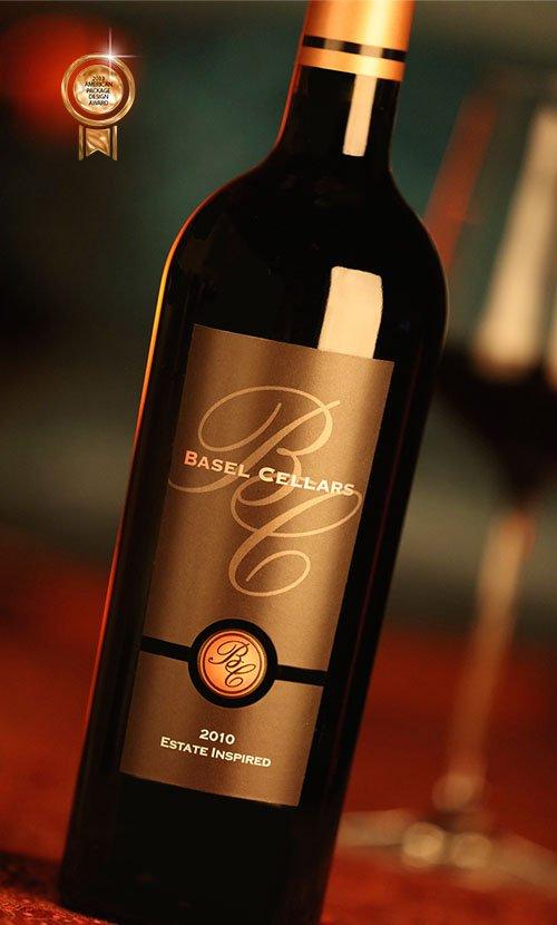 Basel Cellars Estate Inspired Wine Label Design