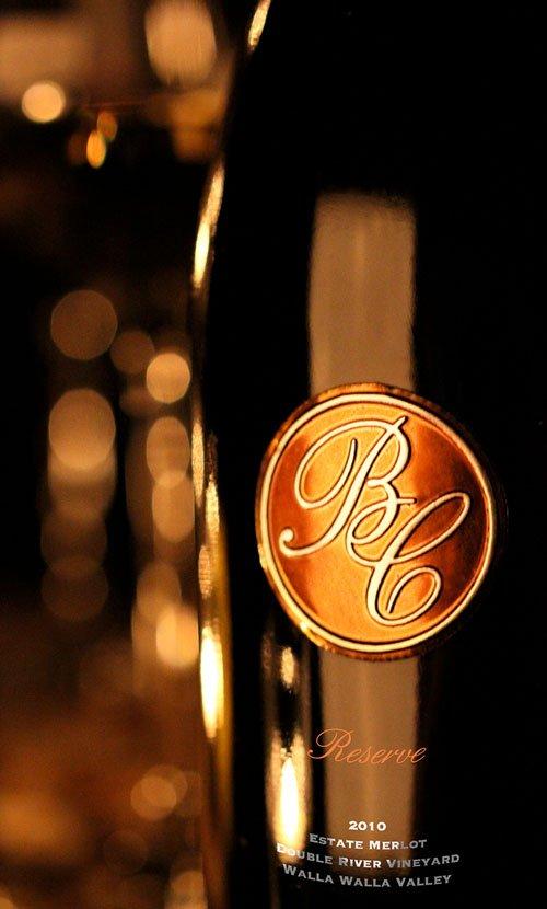 Basel Cellars Reserve Medallion Wine Label Design