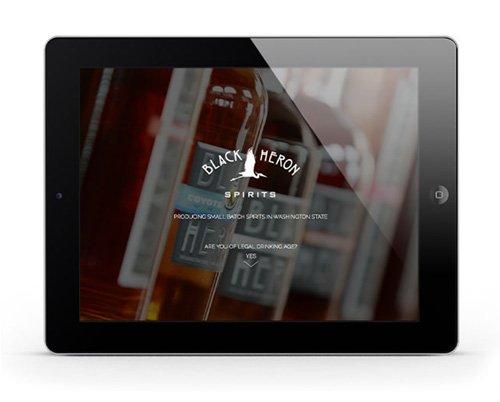 Black Heron Sprits Website Design