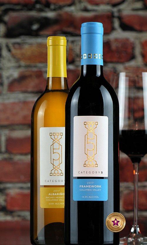 Category 5 Wine Label Design
