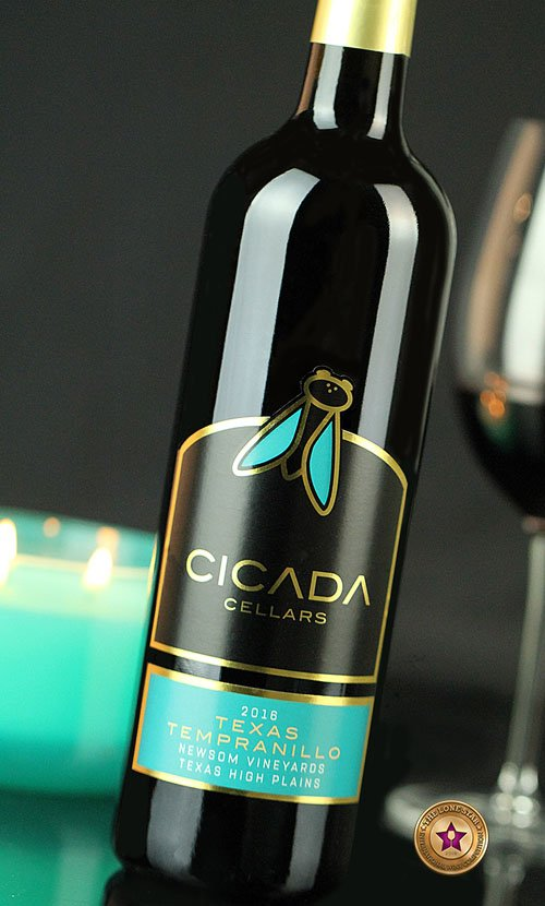 Cicada Cellars Texas Tempranillo Wine Label Design