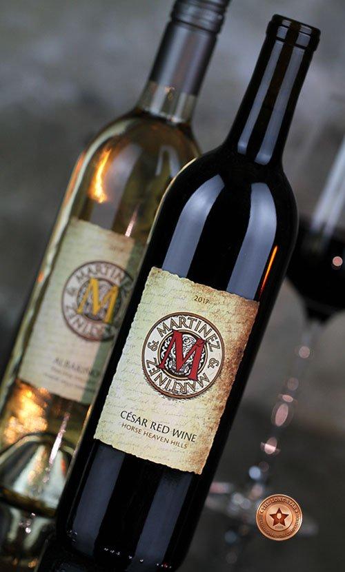 Martinez & Martinez Red Wine Label Design