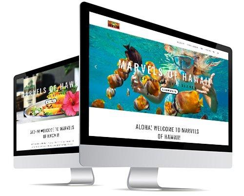 Marvels of Hawaii Website Design