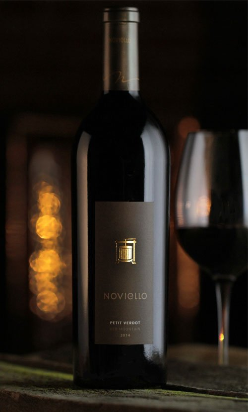 Noviello Petit Verdot Wine Label Design