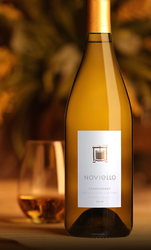 Noviello Chardonnay Wine Label Design