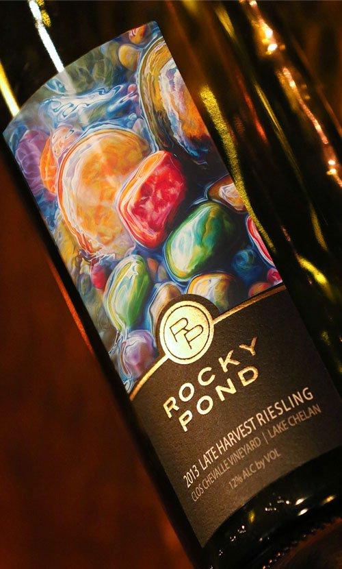 Rocky Pond Riesling Wine Label Design
