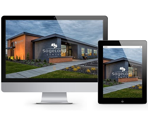 Sageland Center Website Design