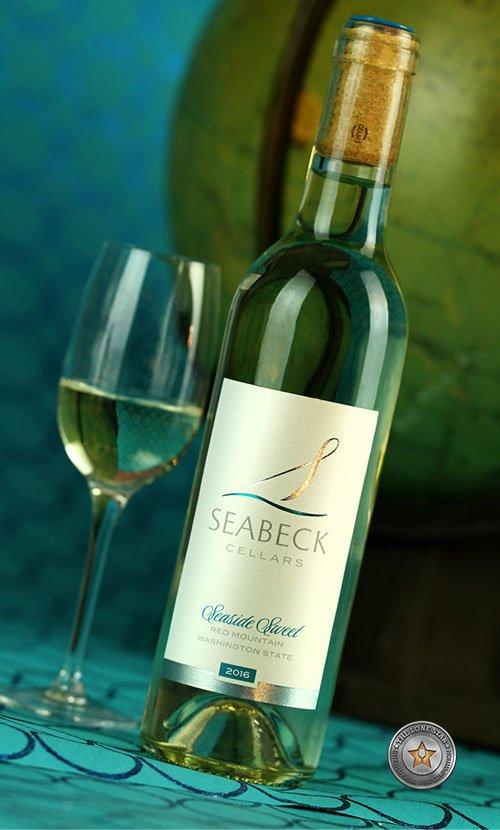 Seabeck Cellars Seaside Sweet Wine Label Design