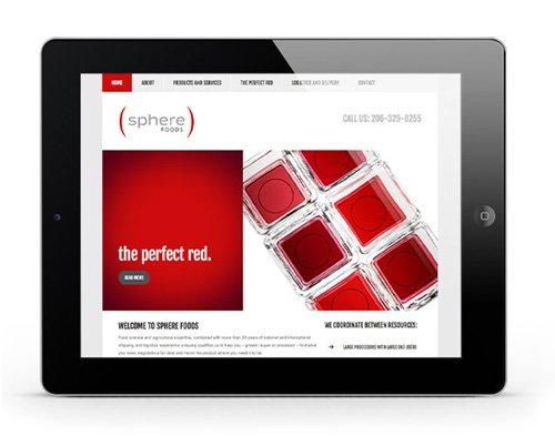 Sphere Foods Website Design