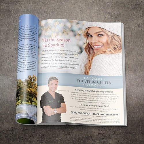 Stern Center Magazine Ad Design