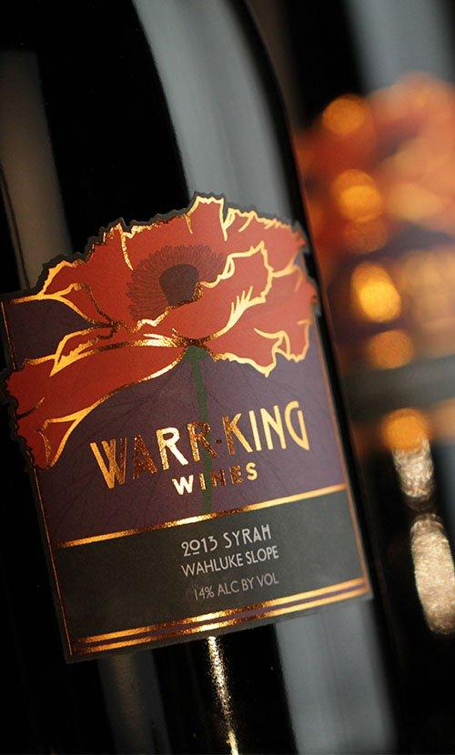 Warr-King Wines Syrah Label Closeup