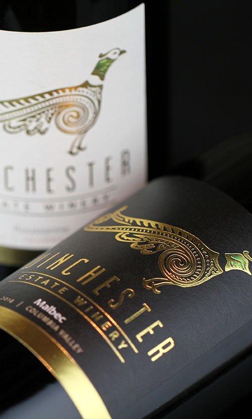 Winchester Estate Winery Malbec Wine Label Design
