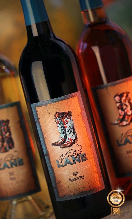 Vintage Lane Wine Bottle